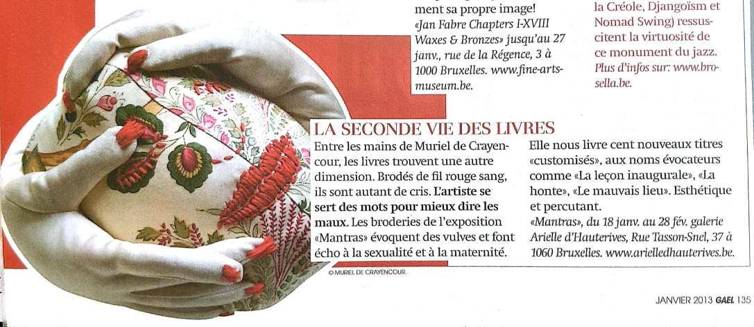 La seconde vie des livres- Gaël, janvier 2013